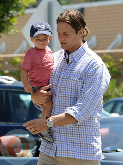 Tom Brady With his son Benjamin