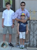 Mark Consuelos in Washington with sons Michael and Joaquin