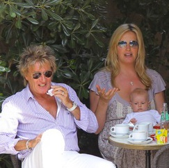 Rod Stewart & Penny Lancaster Vacation in France With Their Boys!