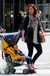 Alyson Hannigan and daughter Satyana in NYC