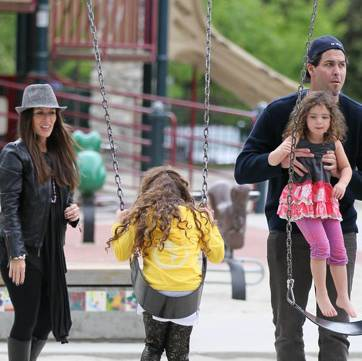 Soleil Moon Frye and Husband Jason Goldberg Enjoys A Park Play