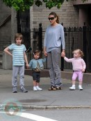 Sarah Jessica Parker with son James and daughters Marion and Tabitha