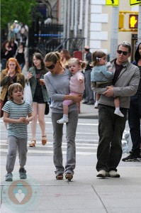 Sarah Jessica Parker and Matthew Broderick with son James and daughters Marion and Tabitha