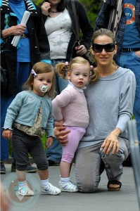 Sarah Jessica Parker with daughters Marion and Tabitha