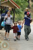 Julie Bowen and Scott Phillips with their sons on Mother's Day