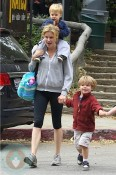 Julie Bowen with her sons on Mother's Day