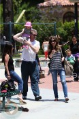 Eric Dane and Rebecca Gayheart with daughter Billie Coldwater park