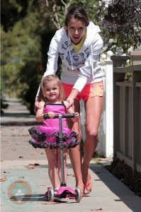 Alessandra with daughter Anja in Beverly Hills