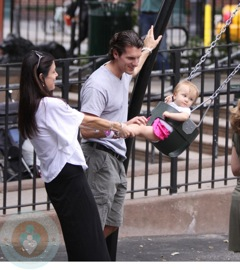Bethenny Strolls With Her Family