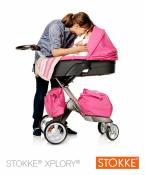 2011 Stokke Xplory - pink bassinet