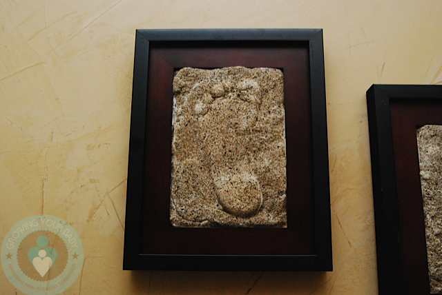 DIY Framed Hand-footprint - finished - Growing Your Baby