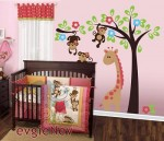 Evgie - Monkeys on the tree with giraffe jungle gym