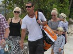 Gwen Stefani and Gavin Rossdale with sons Kingston and Zuma in Cannes