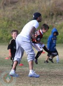 David Beckham with son Cruz at Soccer Practice