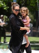 Jessica Alba with daughter Honor Marie At Coldwater Park