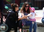 Jessica Alba and Rebecca Gayheart with daughter Billie Coldwater park