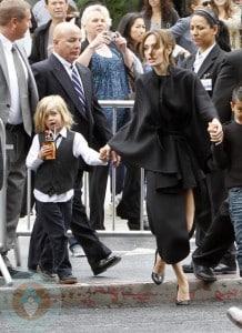 Angelina Jolie with Shiloh at Kung-Fu Panda Premiere