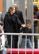 Angelina Jolie with Maddox at Kung-Fu Panda Premiere