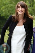 An expectant Carla Bruni-Sarkozy at G8 Summit in France