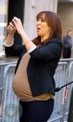 A Pregnant Maya Rudolph at Access Hollywood in NYC