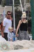 Gwen Stefani and Gavin Rossdale with son Kingston in Cannes