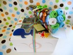 Little Elephant & Co. - baby item cupcake set & washcloth bouquet