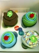 Little Elephant & Co. - giveaway item- 2 onesie & triple washcloth cupcake set