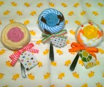 Little Elephant & Co. - washcloth lollipop with spoon