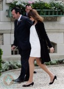 Nicolas Sarkozy and wife Carla Bruni-Sarkozy at G8 Summit in France