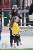 Soleil Moon Frye with daughter Poet