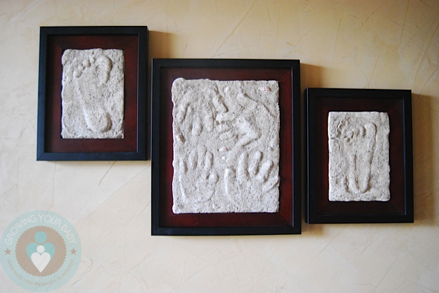 Mother\'s Day Craft Idea: DIY Framed Hand/footprint