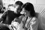 Jesse Warren and Autumn Reeser with Baby Finn