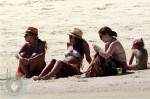 A pregnant Jessica Alba in Mexico with daughter Honor