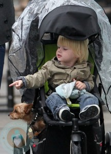 Samuel Schreiber with family dog Bob the Yorkshire Terrier
