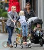 Naomi Watts with sons Alexander and Samuel