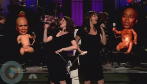 A Pregnant Maya Rudolph with Tina Fey on SNL