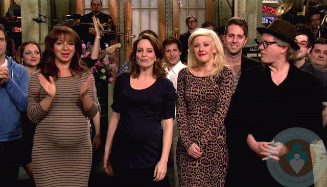 A Pregnant Maya Rudolph With Tina Fey On Snl Growing