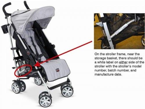 image of recalled B-nimble stroller
