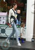 Jools Oliver with son Buddy and daughters Petal & Daisy