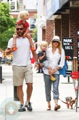 Naomi Watts with partner Liev Schreiber and sons Sasha and Sammy