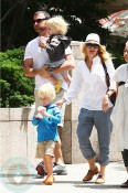 Naomi Watts with partner Liev Schreiber and sons Sasha and Sammy