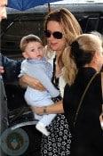 Kelly Preston with son Benjamin In Paris