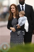 Kelly Preston with son Benjamin In Paris