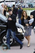 John Travolta & Kelly Preston with son Benjamin In Paris