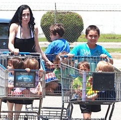 Nadya Suleman Shops With Her Gang!