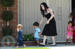 Nadya Suleman with 3 of her Octuplets