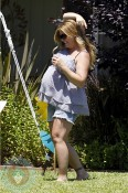 Nicole Eggert at her baby shower