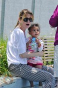 Ellen Pompeo with daughter Stella Luna Ivery
