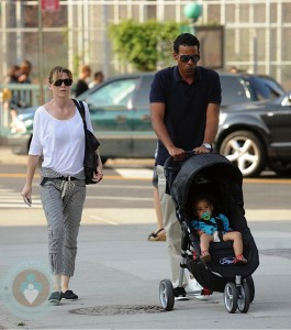 Ellen Pompeo and Chris Ivery with daughter Stella Luna