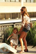 Alessandra Ambrosio with daughter Anja